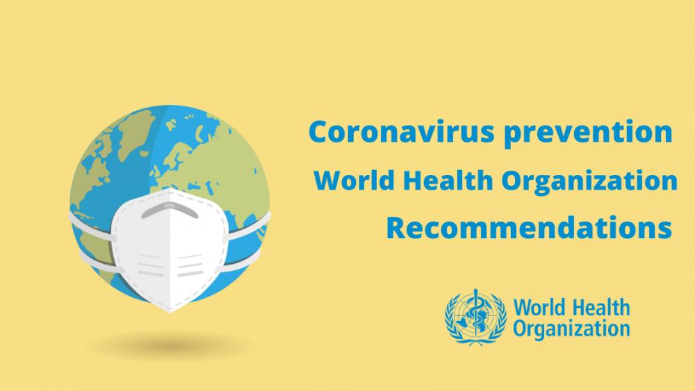 Coronavirus prevention World Health Organization recommendations